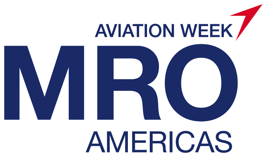 MRO Americas logo blue red